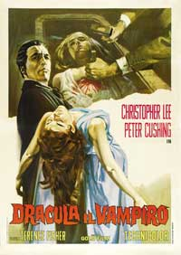 Horror of Dracula - 11 x 17 Movie Poster - Italian Style A