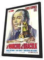 Horror of Frankenstein/Scars of Dracula - 27 x 40 Movie Poster - Italian Style A - in Deluxe Wood Frame