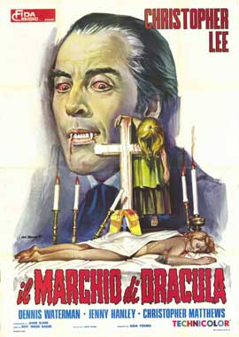 Horror of Frankenstein/Scars of Dracula - 11 x 17 Movie Poster - Italian Style A