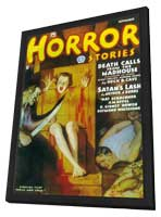 Horror Stories (Pulp) - 11 x 17 Pulp Poster - Style A - in Deluxe Wood Frame