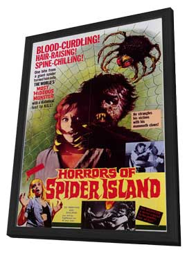 Horrors of Spider Island - 11 x 17 Movie Poster - Style A - in Deluxe Wood Frame