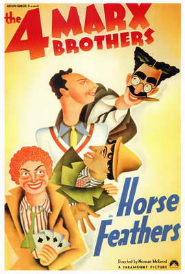 Horse Feathers - 27 x 40 Movie Poster - Style A