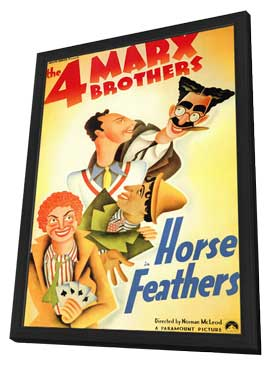 Horse Feathers - 11 x 17 Movie Poster - Style A - in Deluxe Wood Frame