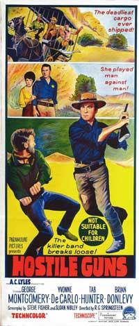 Hostile Guns - 13 x 30 Movie Poster - Australian Style A