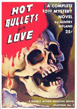 Hot Bullets for Love - 11 x 17 Retro Book Cover Poster