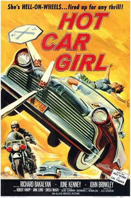 Hot Car Girl - 11 x 17 Movie Poster - Style A