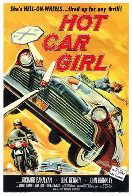 Hot Car Girl - 27 x 40 Movie Poster - Style A