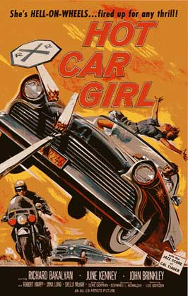 Hot Car Girl - 11 x 17 Movie Poster - Style C