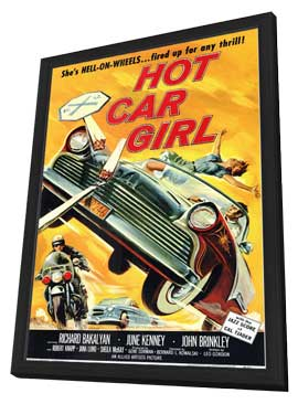 Hot Car Girl - 11 x 17 Movie Poster - Style A - in Deluxe Wood Frame