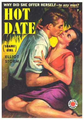 Hot Date - 11 x 17 Retro Book Cover Poster