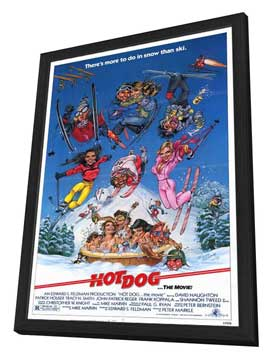 Hot Dog . . . The Movie! - 11 x 17 Movie Poster - Style A - in Deluxe Wood Frame