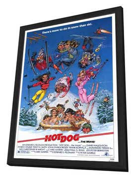 Hot Dog . . . The Movie! - 27 x 40 Movie Poster - Style A - in Deluxe Wood Frame