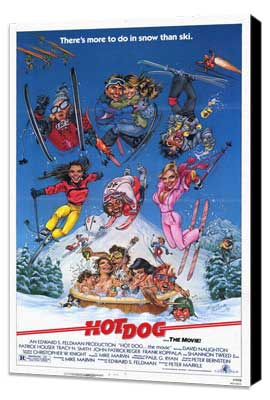 Hot Dog . . . The Movie! - 11 x 17 Movie Poster - Style A - Museum Wrapped Canvas