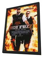 Hot Fuzz - 11 x 17 Movie Poster - Style E - in Deluxe Wood Frame