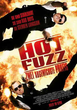 Hot Fuzz - 27 x 40 Movie Poster - German Style A