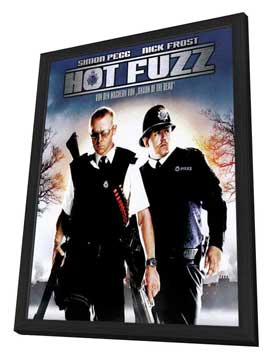Hot Fuzz - 11 x 17 Movie Poster - Style I - in Deluxe Wood Frame