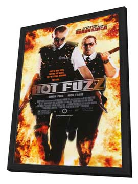Hot Fuzz - 27 x 40 Movie Poster - Style A - in Deluxe Wood Frame