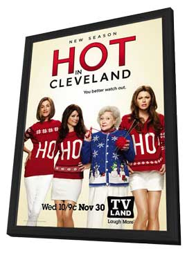 Hot in Cleveland (TV) - 11 x 17 TV Poster - Style D - in Deluxe Wood Frame