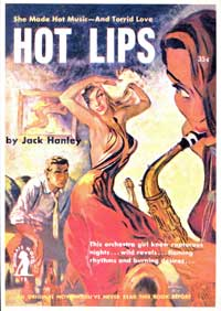 Hot Lips - 11 x 17 Retro Book Cover Poster