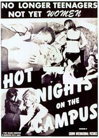 Hot Nights on the Campus - 27 x 40 Movie Poster - Style A