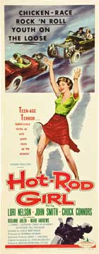 Hot Rod Girl - 14 x 36 Movie Poster - Insert Style B