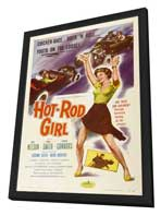 Hot Rod Girl - 27 x 40 Movie Poster - Style A - in Deluxe Wood Frame