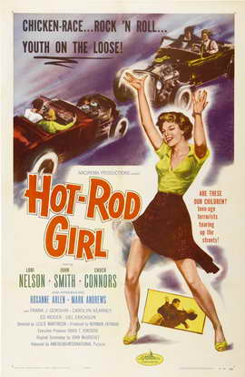 Hot Rod Girl - 11 x 17 Movie Poster - Style A