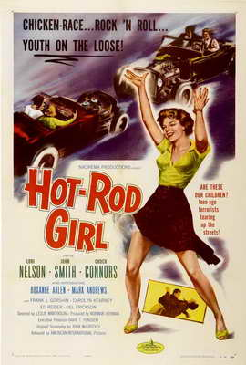 Hot Rod Girl - 27 x 40 Movie Poster - Style A