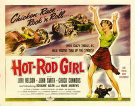 Hot Rod Girl - 22 x 28 Movie Poster - Half Sheet Style A