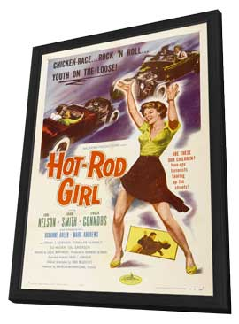 Hot Rod Girl - 11 x 17 Movie Poster - Style A - in Deluxe Wood Frame