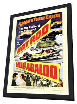 Hot Rod Hullabaloo - 27 x 40 Movie Poster - Style A - in Deluxe Wood Frame