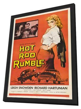 Hot Rod Rumble - 11 x 17 Movie Poster - Style B - in Deluxe Wood Frame