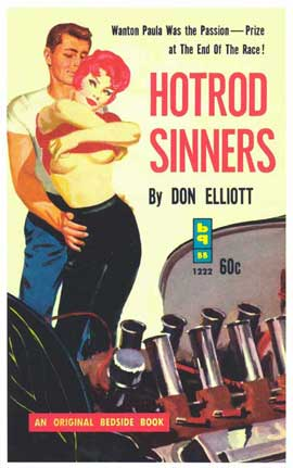 Hot Rod Sinners - 11 x 17 Retro Book Cover Poster