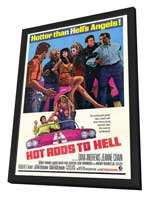 Hot Rods to Hell - 27 x 40 Movie Poster - Style A - in Deluxe Wood Frame