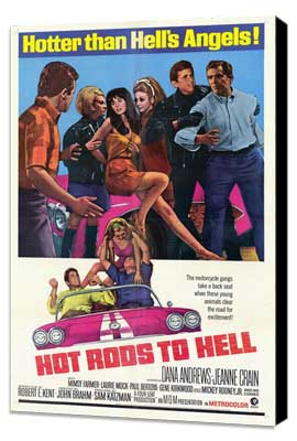 Hot Rods to Hell - 27 x 40 Movie Poster - Style A - Museum Wrapped Canvas