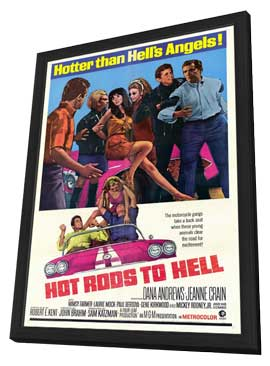 Hot Rods to Hell - 11 x 17 Movie Poster - Style A - in Deluxe Wood Frame