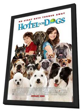 Hotel for Dogs - 11 x 17 Movie Poster - Style C - in Deluxe Wood Frame