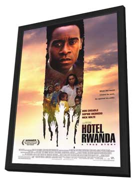 Hotel Rwanda - 27 x 40 Movie Poster - Style A - in Deluxe Wood Frame