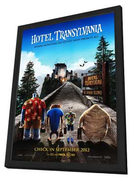 Hotel Transylvania - 27 x 40 Movie Poster - Style A - in Deluxe Wood Frame