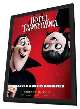 Hotel Transylvania - 27 x 40 Movie Poster - Style D - in Deluxe Wood Frame