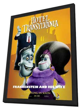 Hotel Transylvania - 11 x 17 Movie Poster - Style F - in Deluxe Wood Frame