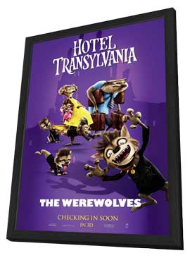 Hotel Transylvania - 11 x 17 Movie Poster - Style G - in Deluxe Wood Frame