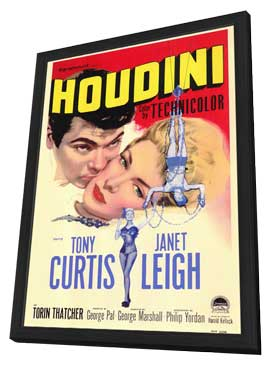 Houdini - 27 x 40 Movie Poster - Style A - in Deluxe Wood Frame