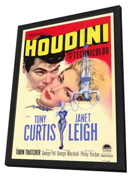 Houdini - 11 x 17 Movie Poster - Style A - in Deluxe Wood Frame