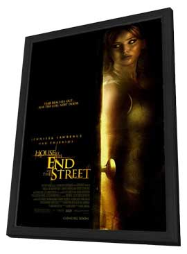 House at the End of the Street - 27 x 40 Movie Poster - Style A - in Deluxe Wood Frame