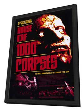 House of 1000 Corpses - 11 x 17 Movie Poster - Style A - in Deluxe Wood Frame