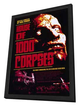 House of 1000 Corpses - 27 x 40 Movie Poster - Style A - in Deluxe Wood Frame
