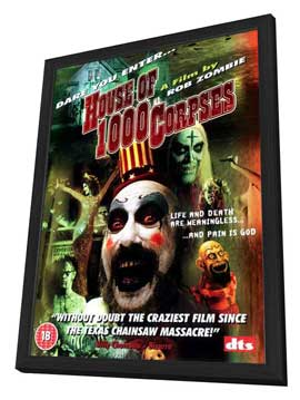 House of 1000 Corpses - 27 x 40 Movie Poster - Style B - in Deluxe Wood Frame