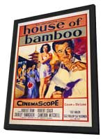 House of Bamboo - 11 x 17 Movie Poster - Style A - in Deluxe Wood Frame