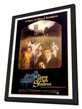 House of Dark Shadows - 27 x 40 Movie Poster - Style A - in Deluxe Wood Frame